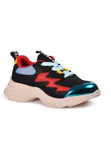Tiffany&Tomato 9150485 Pudra Kadın Spor Ayakkabı Siyah